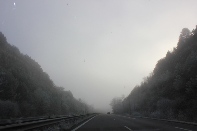 Our drive to Strasbourg.