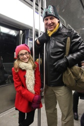 Leading Grandpa around on the Metro like an old pro
