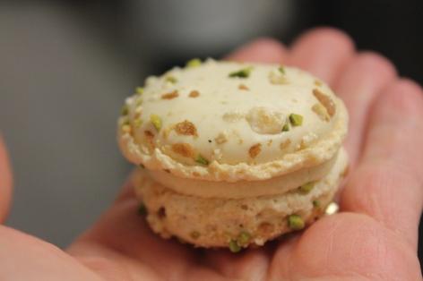 My personal pistachio macaron. It didn't last long.
